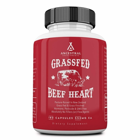 Ancestral Supplements - Rinderherz grasgefüttert - 180 Kapseln