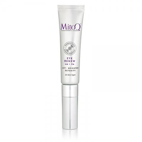 Frontansicht der Verpackungstube von MitoQ® Eye Renew – 20 ml