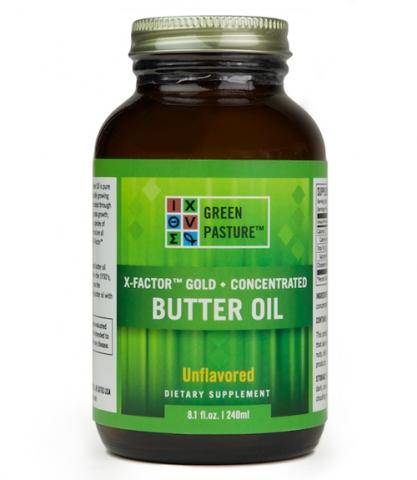 Green Pasture - High Vitamin Butteröl - X-Factor gold - Gel - 240 ml