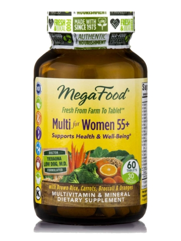 Natürliche Multivitamine für Frauen 55+