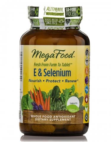 MegaFood - Natürliches Vitamine E & Selenium - 60 Tabletten