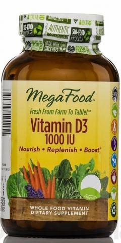 MegaFood - Natürliches Vitamin D3 - 1000iu - 30 Tabletten